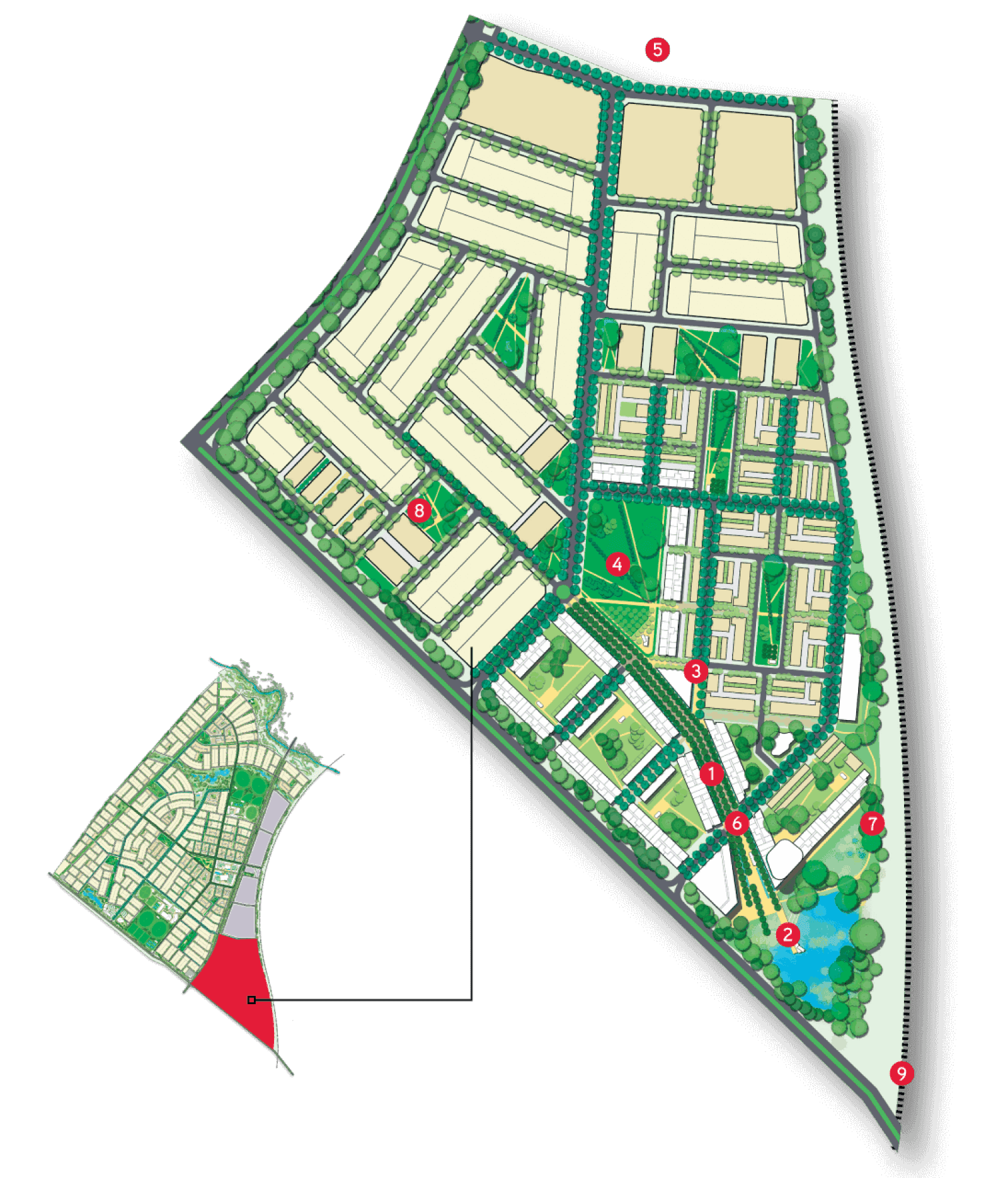 Map of Jubilee precinct